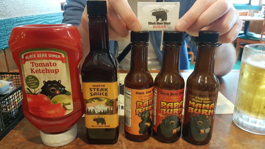 sauces dans les restaurants de la chaîne black bear