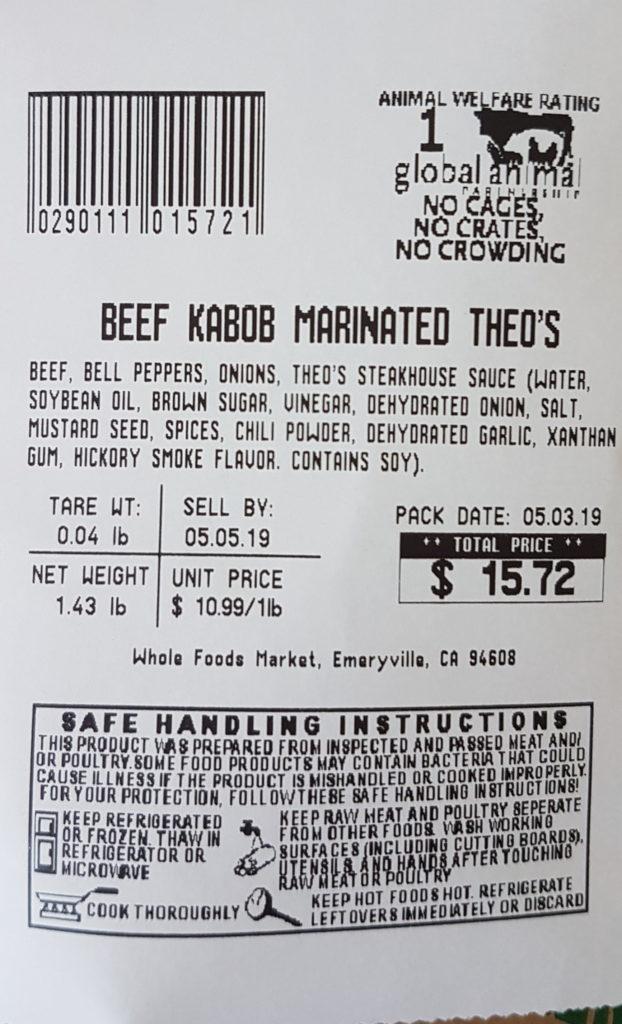 ticket de caisse du wholefood