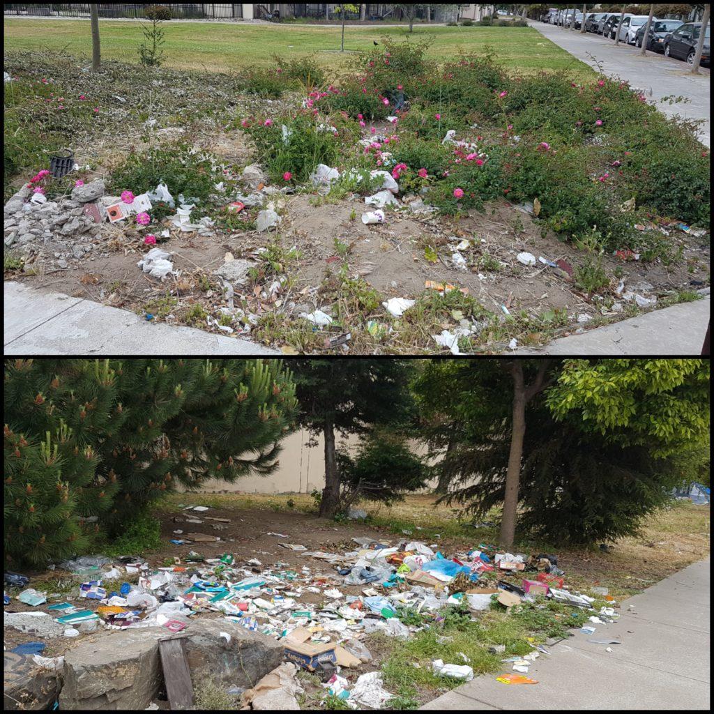 déchets dans oakland