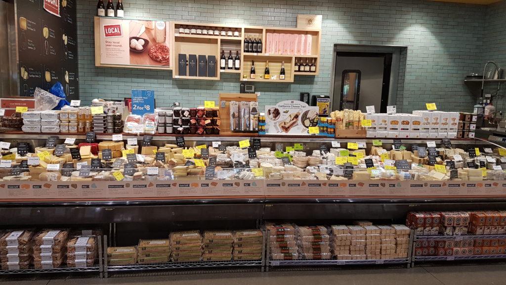 """Rayon fromage """"à la coupe"""" au wholefood de dublin californie"""