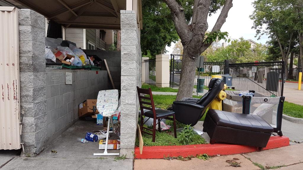 déchets dans notre résidence à dublin californie