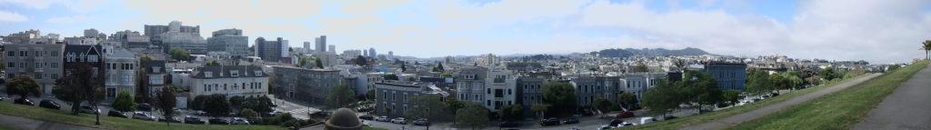 Vue panoramique de san francisco