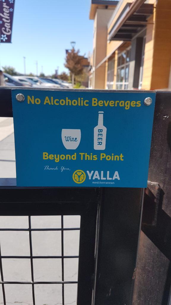 interdit de boire de l'acool sur la voie publique