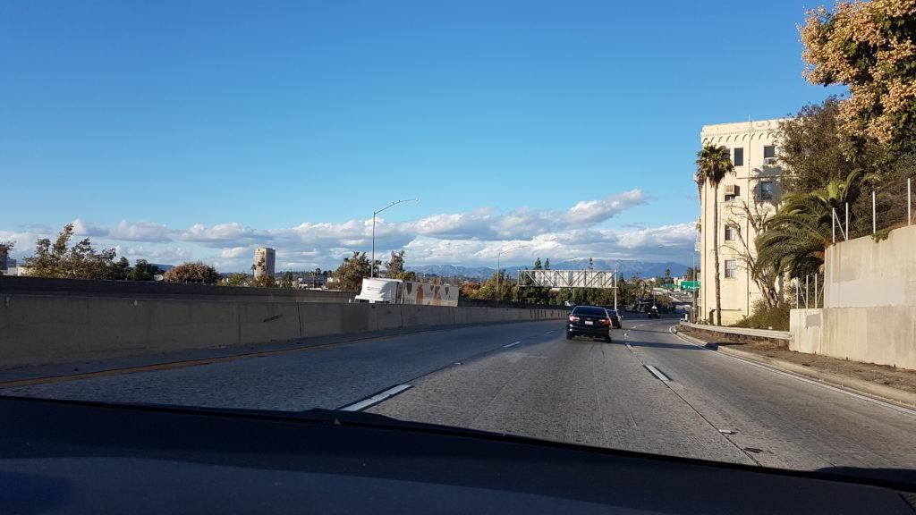 highway entre Long Beach et Hollywood