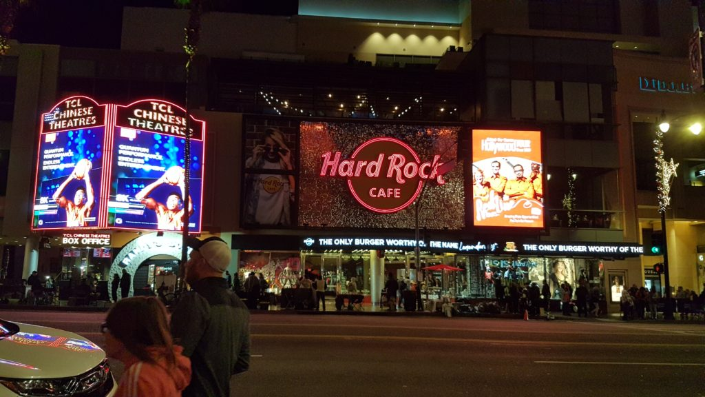 Hard Rock cafe hollywood boulevard