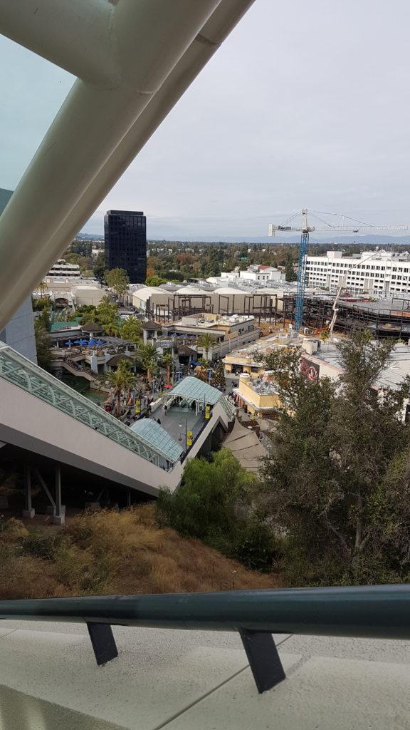 vue sur la partie basse du parc universal studios
