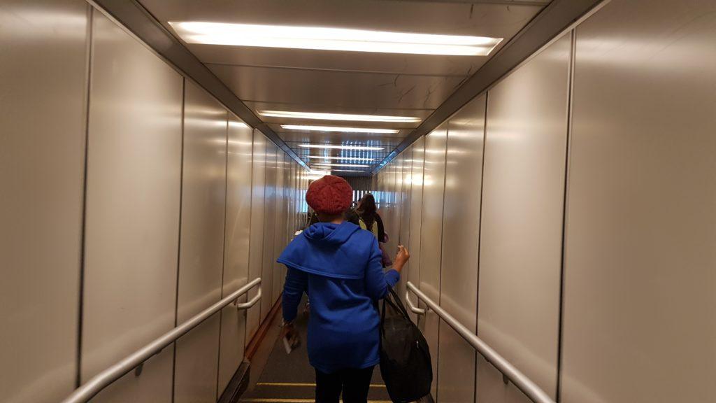 embarquement dans l'avion