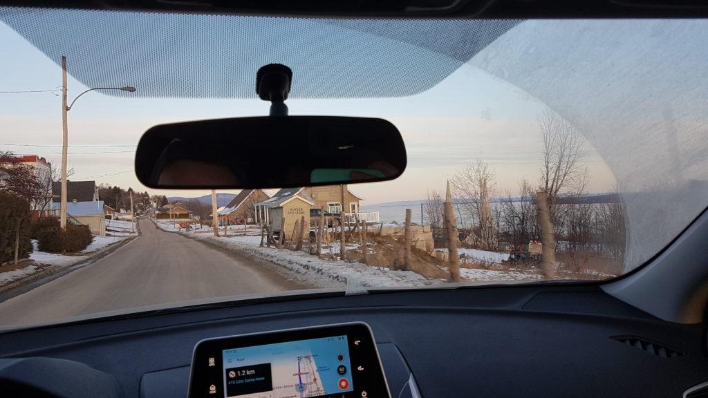 route entre la ville de québec et celle de st anne de beaupré