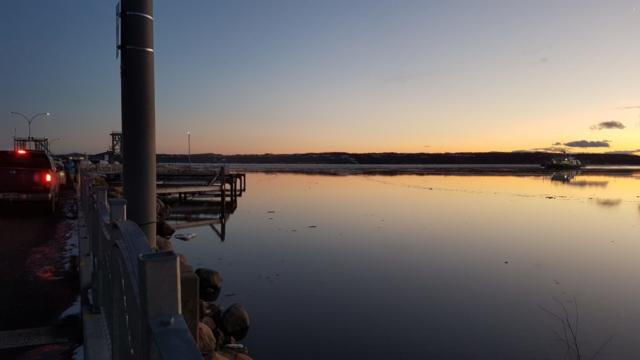 Coucher de soleil sur le St Laurent, une autre