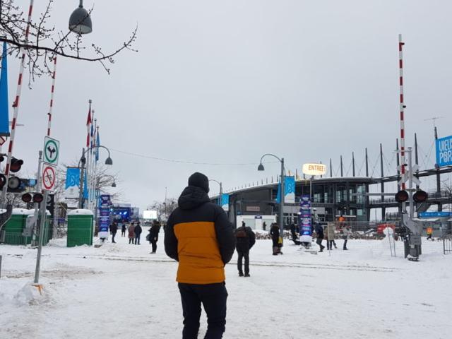 Vieux Port Montréal animé pour le nouvel an