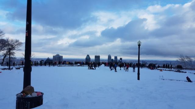 Le belvédère du parc du Mont Royal.