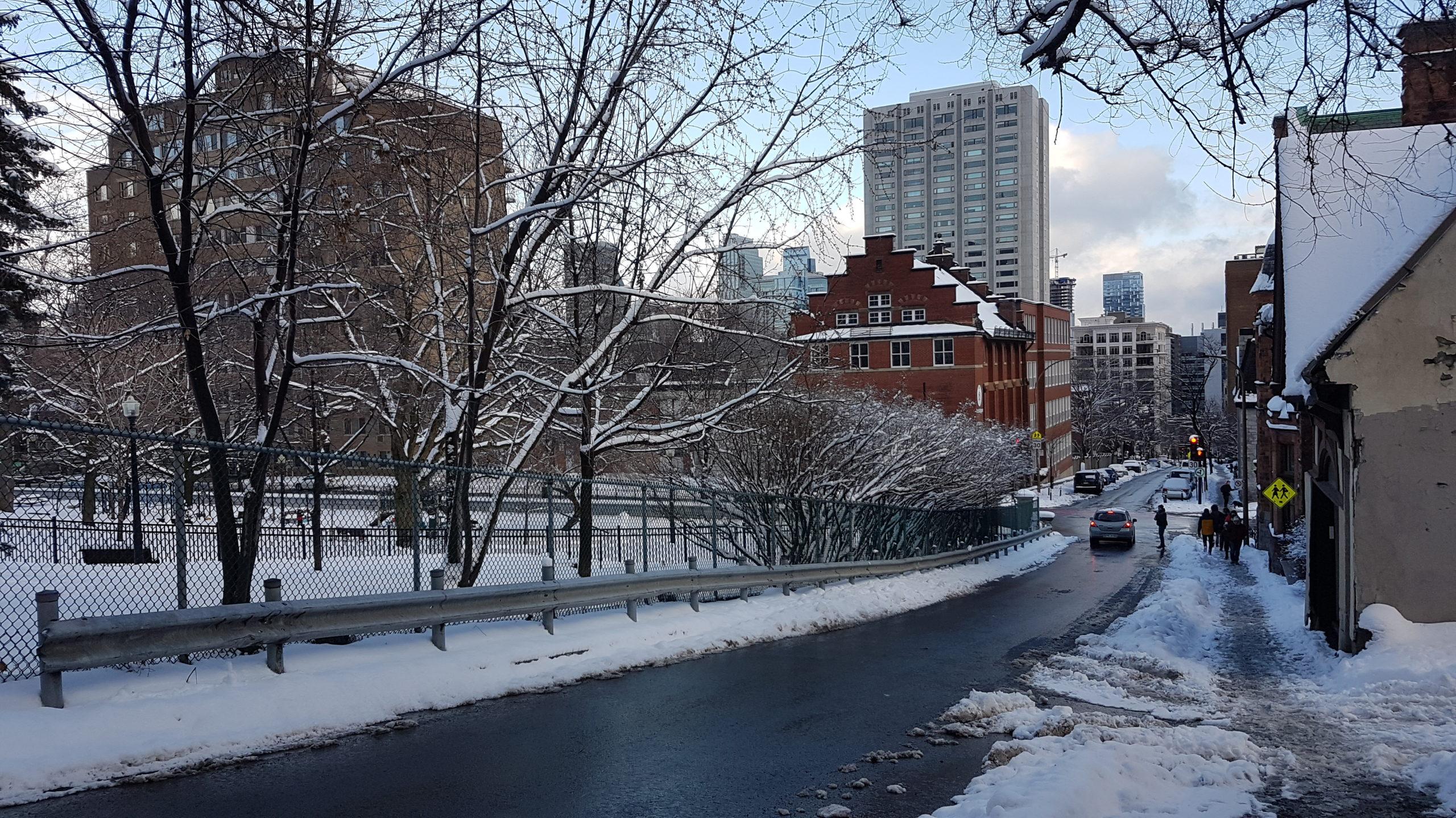 Quartier proche du Mont Royal Montréal.
