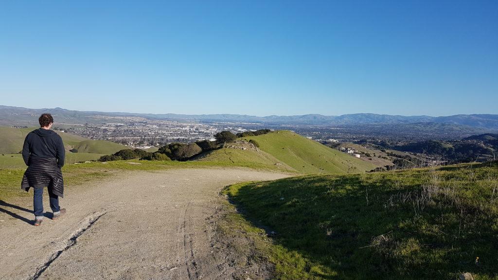 Calaveras trail Dublin Californie la vue