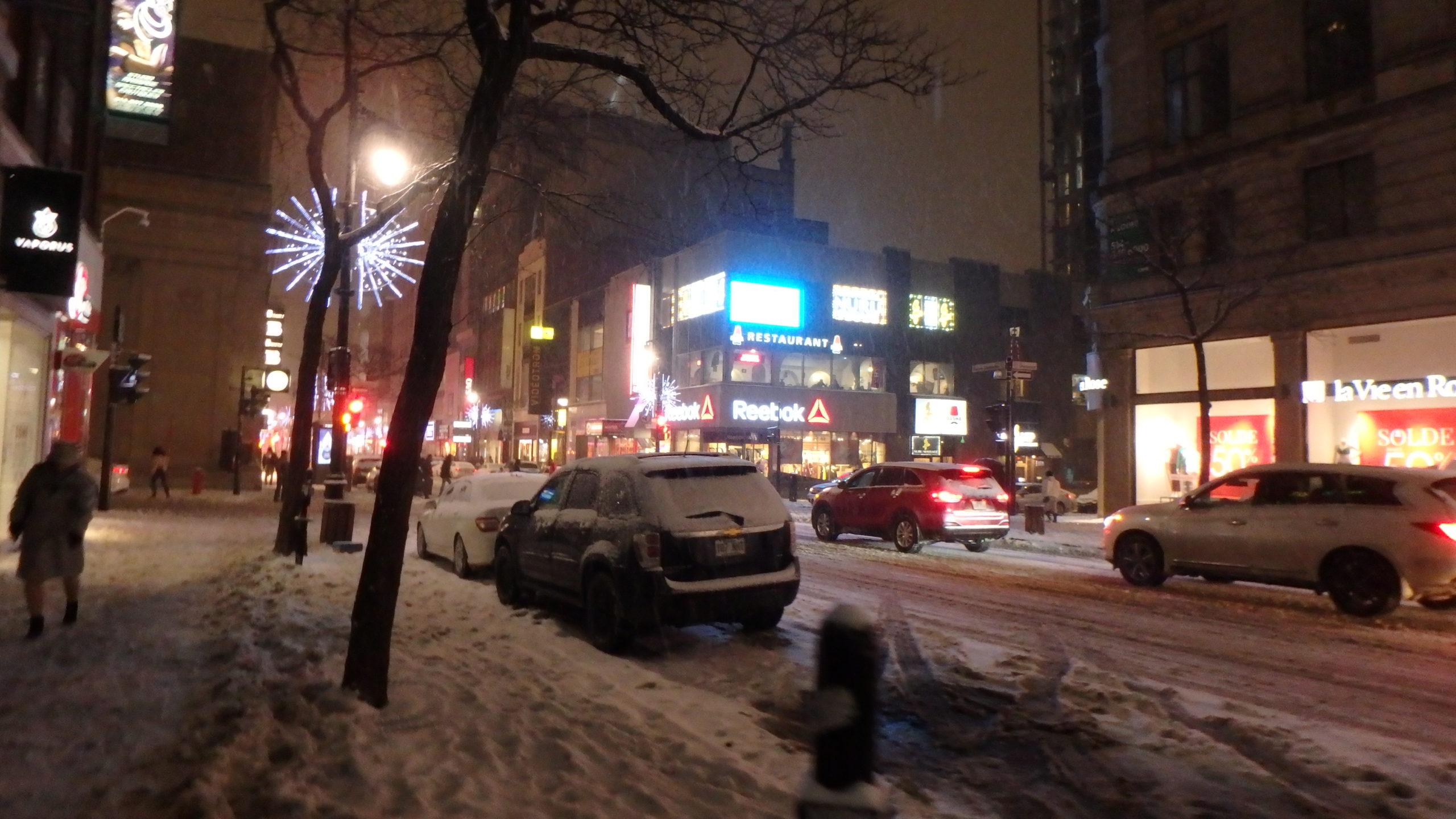 Rue Sainte Catherine sous la neige.3