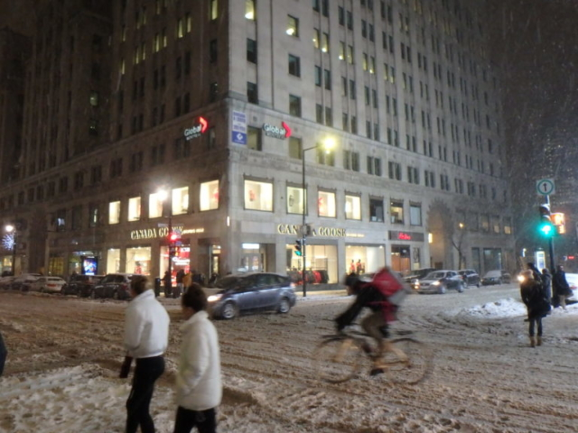 Rue Sainte Catherine sous la neige.5