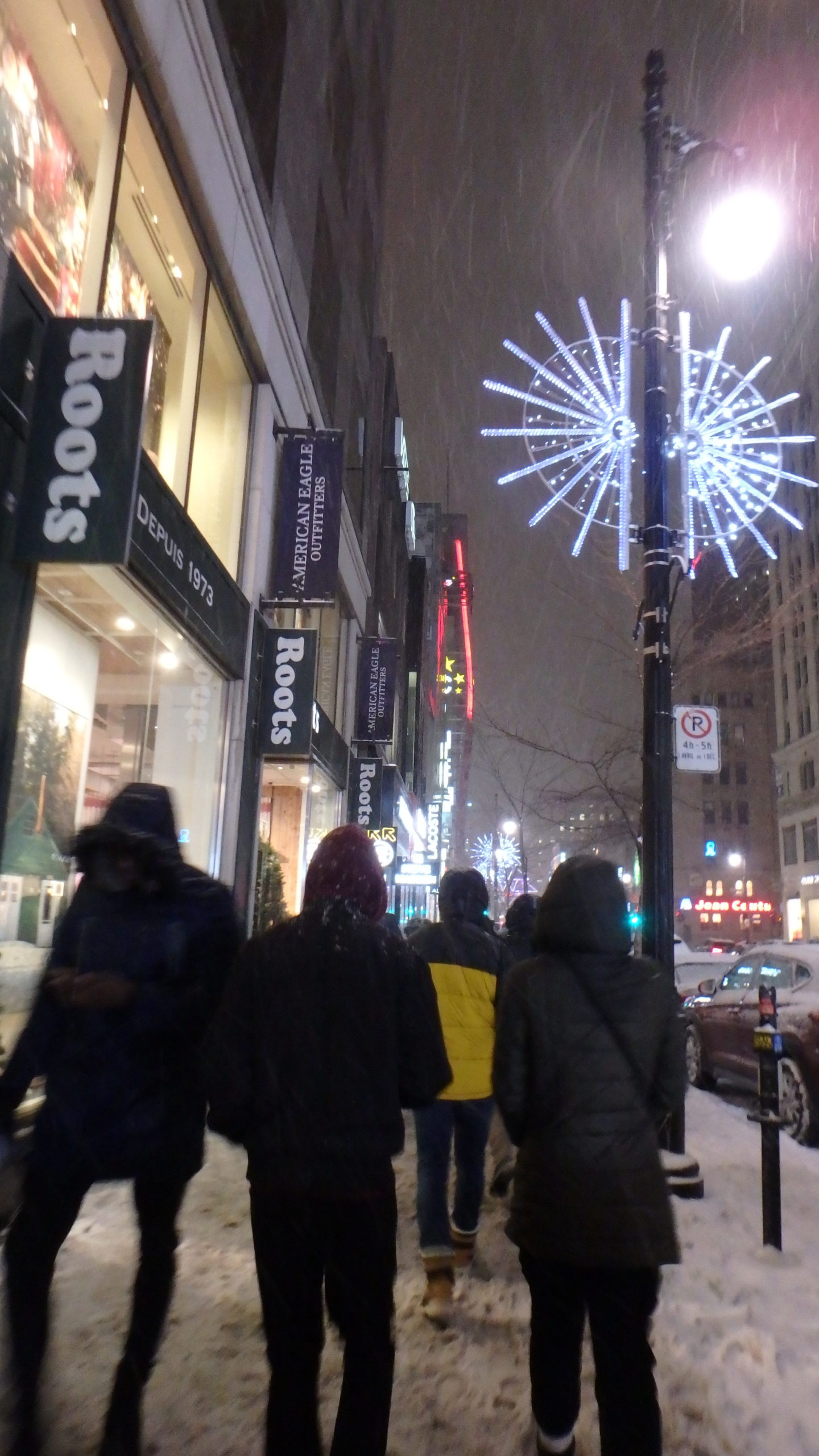 Rue Sainte Catherine sous la neige.6