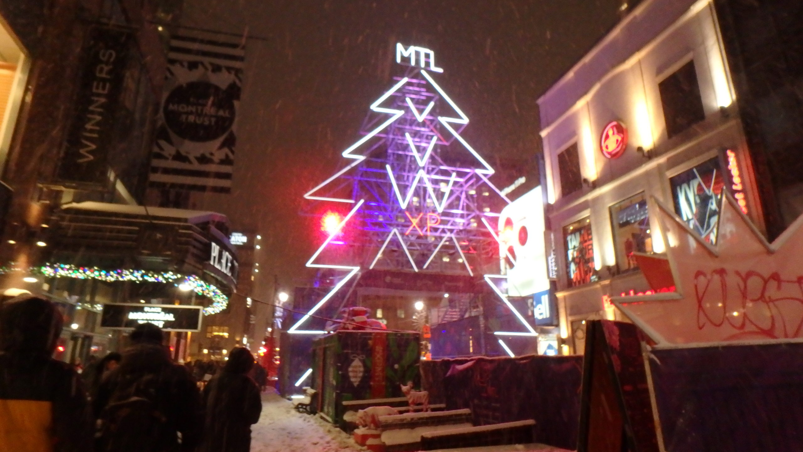 Rue Sainte Catherine sous la neige.8