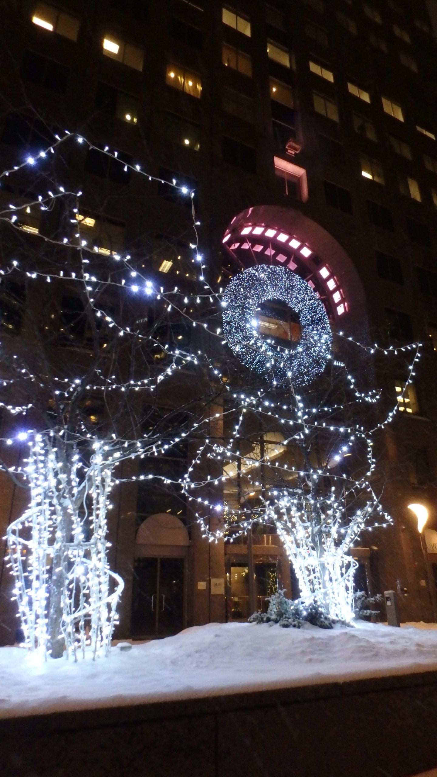 C'est la période de Noël et les décorations sont très présentes 😍.