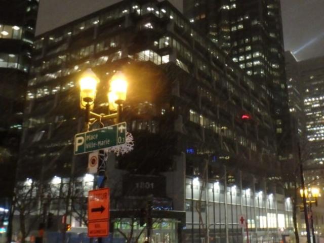 Grattes-ciel décorés Montréal