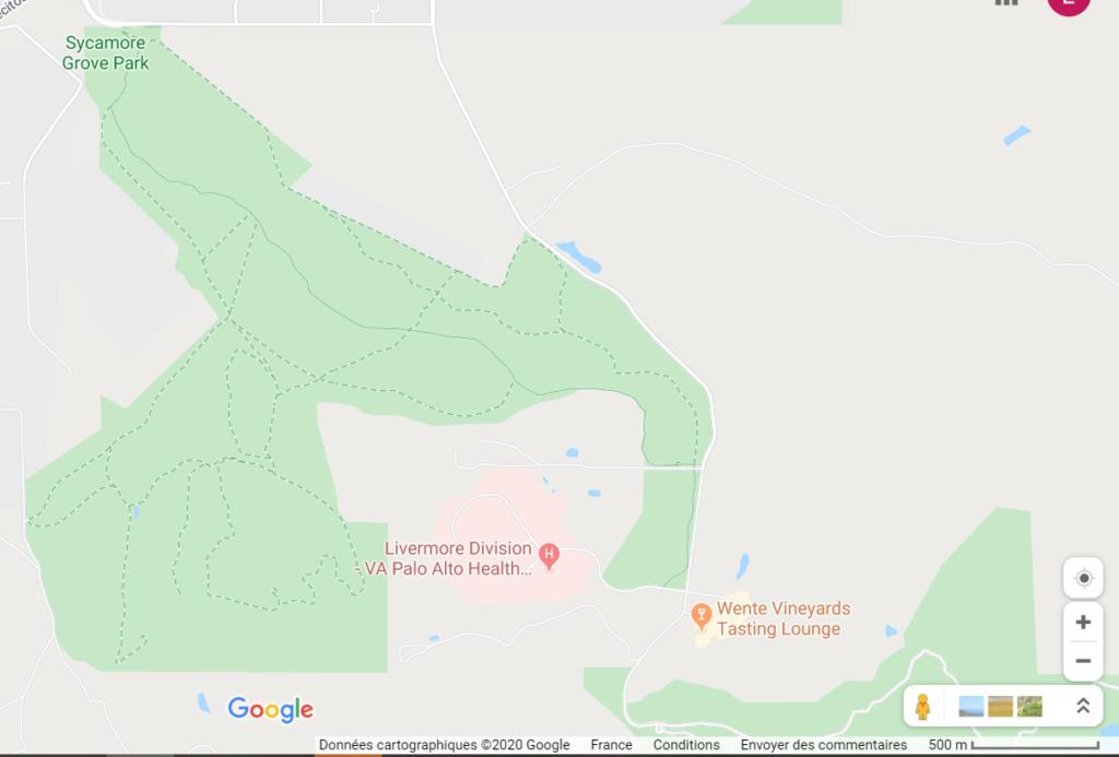 plan du sycamore grove park livermore californie