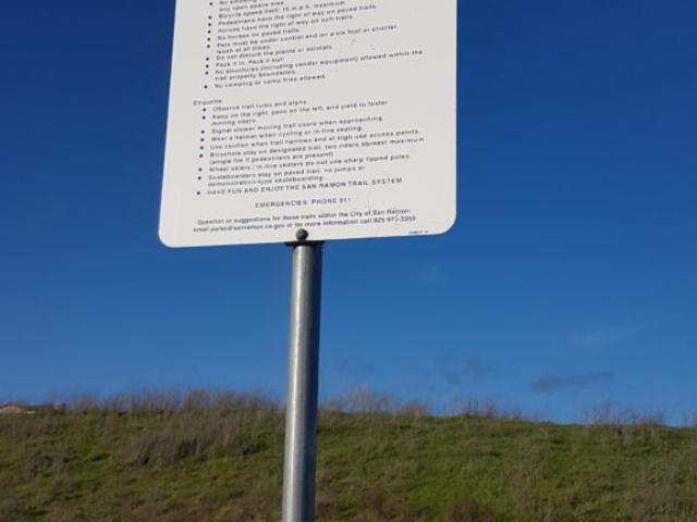 règlement du Tassajara trail staging area