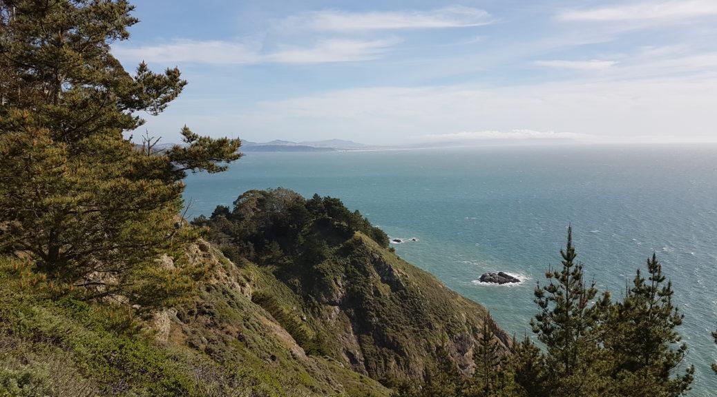 Vue depuis le point de vue au dessus de la plage Muir