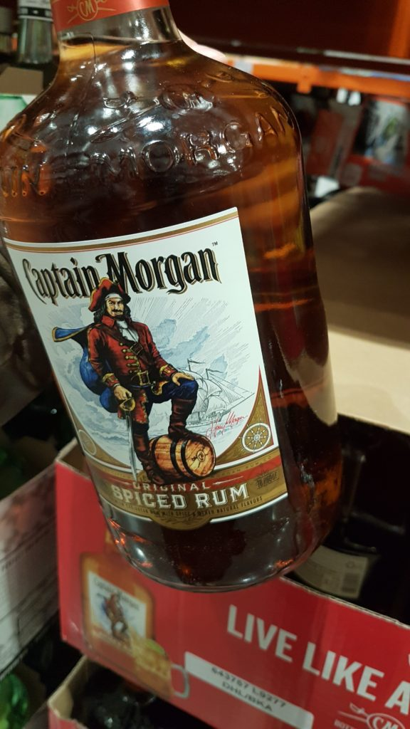 grosse bouteille de rhum captain morgan