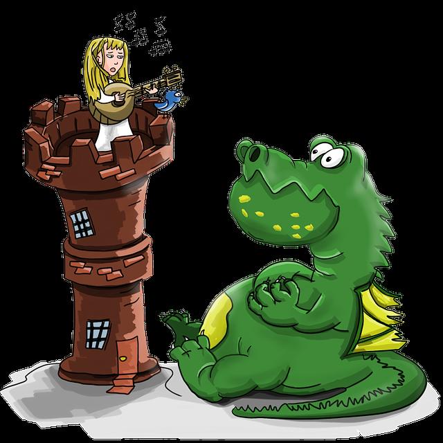 confinement guitare princesse dragon