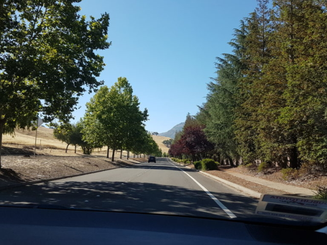 trajet vers mount diablo park