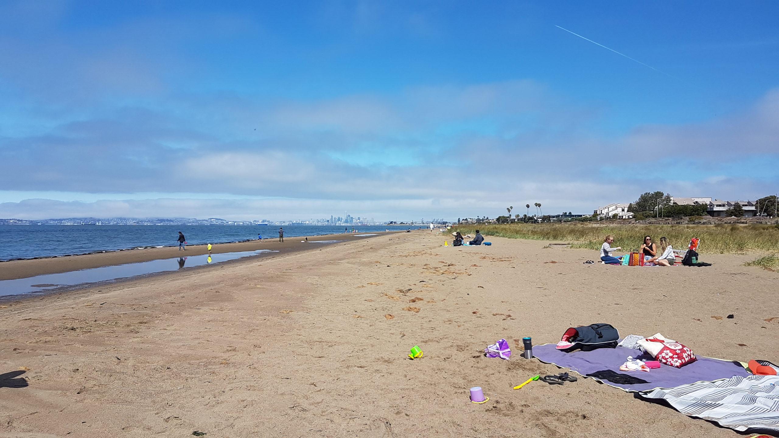 San Francisco à l'horizon ! Alameda beach